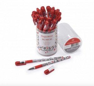 Ручка шариковая MagicWrite «Еноты.Сердечки», узел 0.5 мм, синие чернила