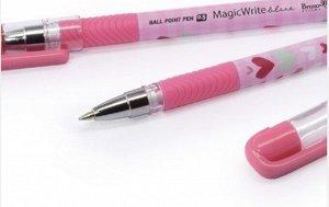 Ручка шариковая MagicWrite «Сердечки розовые», узел 0.5 мм, синие чернила