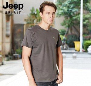 Футболка мужская Jeep Spirit. Хлопок 95%, эластан 5%