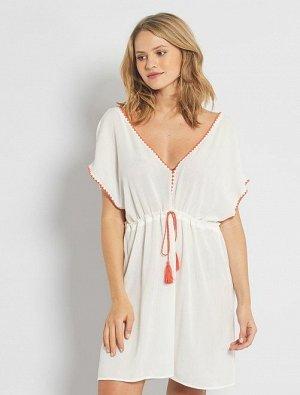 Пляжное платье из крепа