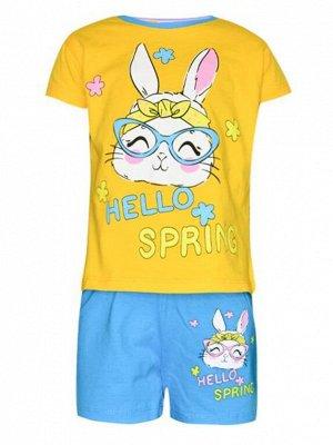 Комплект футболка и шорты для девочек арт. МД 005-39