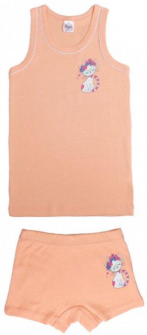 Комплект для девочки персиковый