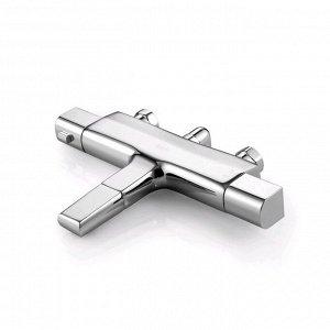 Смеситель для ванны IDDIS Uniterm UNISB02i74WA, двухвентильный, термостатический, хром