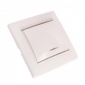 """Выключатель Smartbuy """"Венера"""", 10 А, 1 клавиша, с индикатором, белый"""