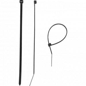 """Стяжки кабельные """"ЗУБР"""" черные КС-Ч1, 2.5 x 200 мм, нейлон, 100 шт."""
