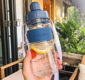 Бутылочка для воды , цвет синий