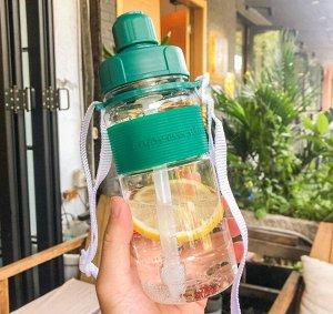 Бутылочка для воды , цвет зеленый