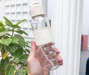 """Бутылочка для воды, принт """"Обезьянка"""", цвет белый"""