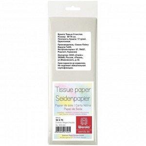 Белая, Бумага тишью  50*75 см, упаковка/5 листов, 17 г/м2, Werola