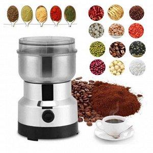 """Кофемолка Кофемолка также подойдет для измельчения кофе, орехов, сухих бобов и зерновых культур. Характеристики: Мощность: 200 Вт Вместимость: 100 г Система """"1-2-3"""" чтобы измельчать за несколько секун"""