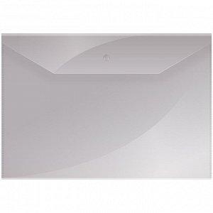 Папка-конверт на кнопке OfficeSpace А4, 150мкм, прозрачная