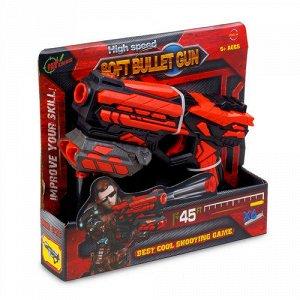 """Набор игровой """"Fengjia"""" Красное оружие:Бластер К-18, EVA пули 6 шт, 18,5 см ,21*5*20 см"""
