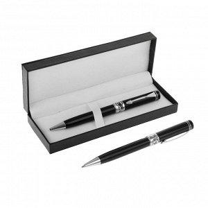 Ручка шариковая, подарочная, поворотная, в кожзам футляре, «Премиум»
