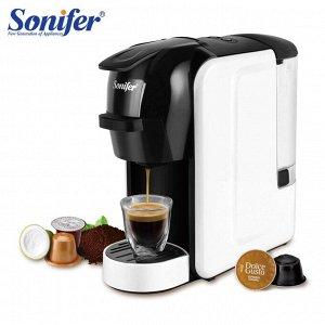 Электрическая кофемашина Sonifer 3 в 1 для капсул