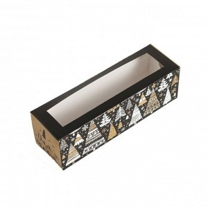 Коробка для макарон «Волшебный Новый год» 18х5,5х5,5 см