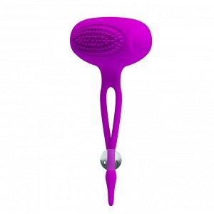 Стимуляторы для сосков с вибрацией, цвет пурпурный