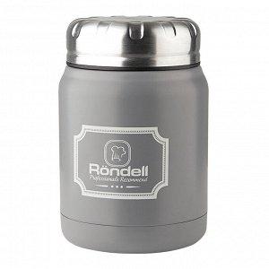 943 Термос для еды 0,5 л Grey Picnic Rondell (GY)