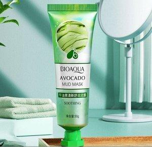 Очищающая грязевая маска для лица с экстрактом авокадо BioAqua, 50 гр