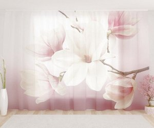 Фототюль Нежные розовые цветочки
