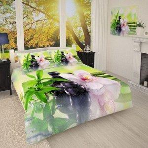 Покрывало 1/008 Белая орхидея на бамбуке