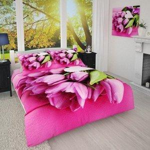 Покрывало 1/008 Букет розовых тюльпанов