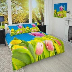 Покрывало 1/008 Желтые тюльпаны