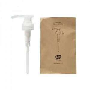 Дозатор-помпа для шампуня на основе ферментов семян растений, для нормальной и сухой кожи головы Whamisa