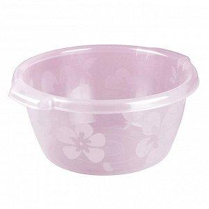 Таз пластмассовый 14л, д39см, h18см, розовый (Россия)