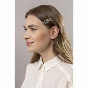 BERIOTTI Зажим для волос, сплав, пластик, 5,5-6,5см, 6 дизайнов