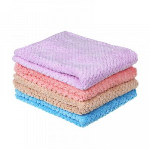 С VETTA Салфетка из микрофибры для мебели ультравпитывающая 40х40см, 280г/кв.м., 4 цвета
