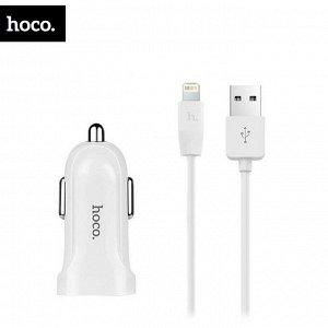 Автомобильное зарядное устройство Hoco Z2 + Lightning / USB, 1.5A
