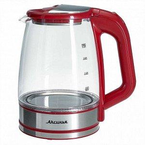 Чайник электрический 1500 Вт, 2,2 л АКСИНЬЯ КС-1006 красный