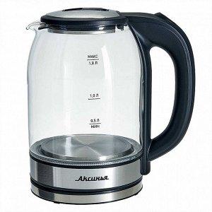 Чайник электрический 1500 Вт, 1,8 л АКСИНЬЯ КС-1005 черный