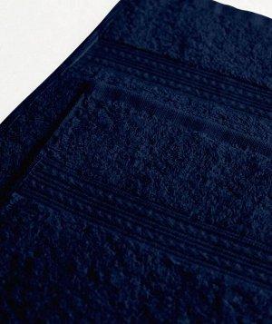 """Полотенце махровое 70х140 """"Маруся"""" темно-синий"""