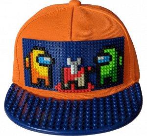 Among Us PixCap Кепки-конструктор лего-совместимая. Оригинальный подарок для всех возрастов. Можно конструировать и создавать новые образы бесконечное количество раз. На козырьке можно строить сценки
