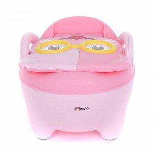 Горшок детский PITUSO Котик в очках, Розовый