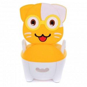 Горшок детский PITUSO Котик в очках, Желтый