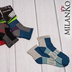 Мужские хлопковые носки с махровым следом (узор 1) milanko