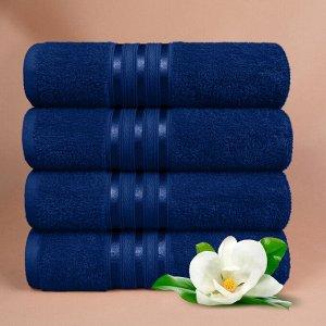 Набор полотенец для лица Harmonika цвет темно-синий (50х80 см - 4 шт).