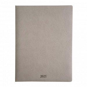 Еженедельник датированный 2021, серый, 19х25см, 88л, Vienna AZ10...