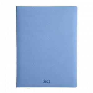 Еженедельник датированный 2021, синий, 19х25см, 88л, Vienna AZ10...