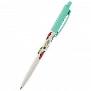Ручка шариковая автоматическая happyclick. разноцветные машины 20...