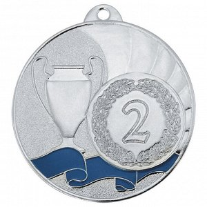 Медаль 2 место 50 мм серебро DC#MK281b-S
