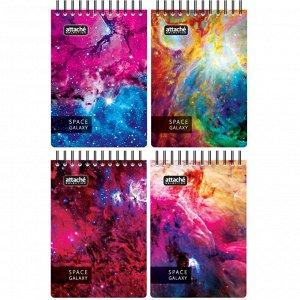 Блокнот 120л,А6,Space Galaxy,107х152мм,70км,белый