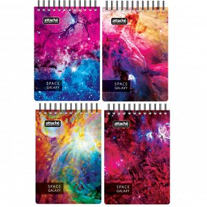 Блокнот 120л,А7,Space Galaxy,82х110мм,70квм,белый