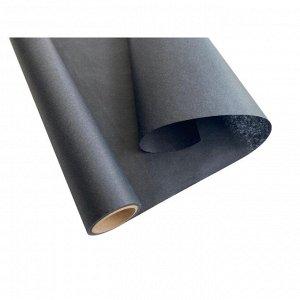 Бумага упаковочная оберточная в рулоне 5м, черная 1100514