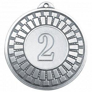 Медаль 2 место 50 мм серебро DC#MK341b-S