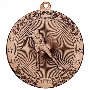 Медаль лыжи 50 мм бронза DC#MK185c