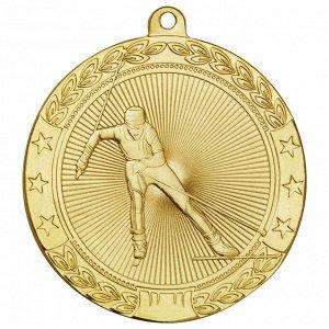 Медаль лыжи 50 мм золото DC#MK185a