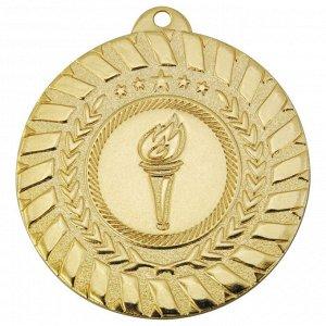 Медаль факел 50 мм золото DC#MK278a-AG